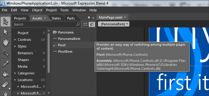 Panorama and Pivot controls for Windows Phone developers