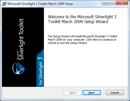 The Silverlight Toolkit grows up a little with an install experience