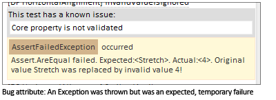 Bug attribute: An Exception was thrown but was an expected, temporary failure.