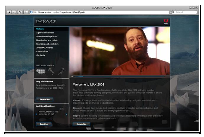 MAX 2008 mini site