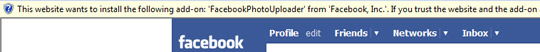 Facebook's proprietary ActiveX control for resizing and uploading photos