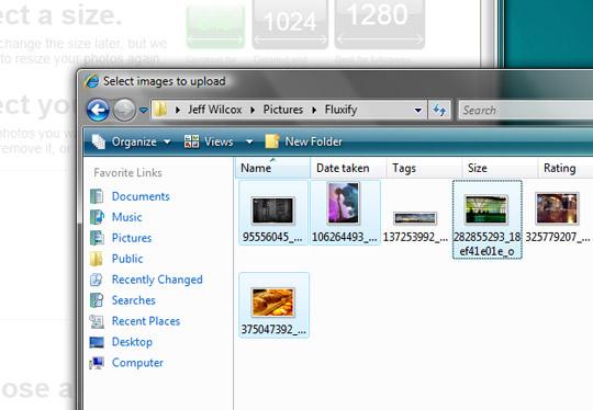 Selecting photos user experience