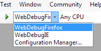Configuration dropdown in Visual Studio
